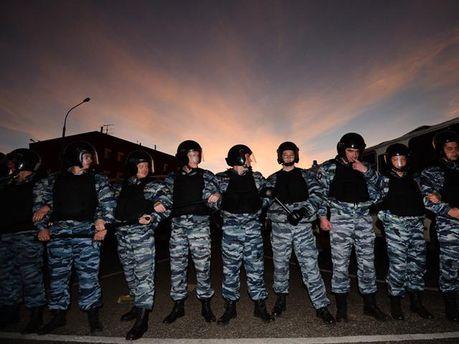 Поліція на акції у Бірюльово