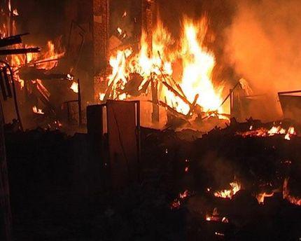 Пожар в Брянке