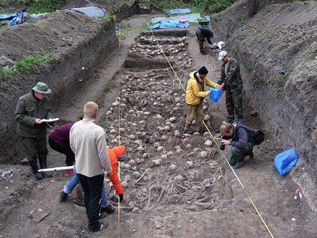 Археологи раскопали массовое захоронение