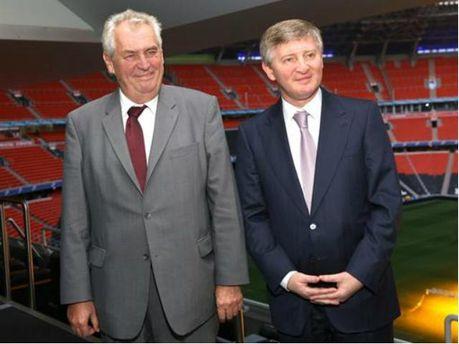 Милош Земан и Ринат Ахметов