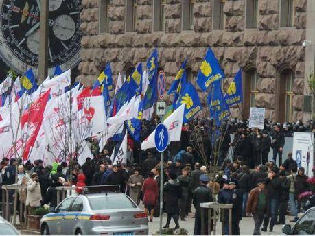 Акція під Київрадою