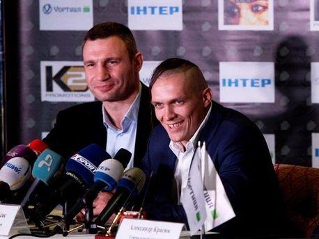 Олександр Усик і Віталій Кличко
