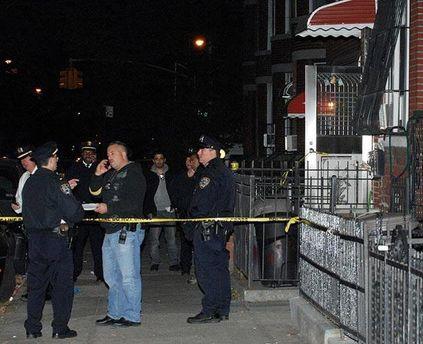 Полиция на месте происшествия в Нью-Йорке