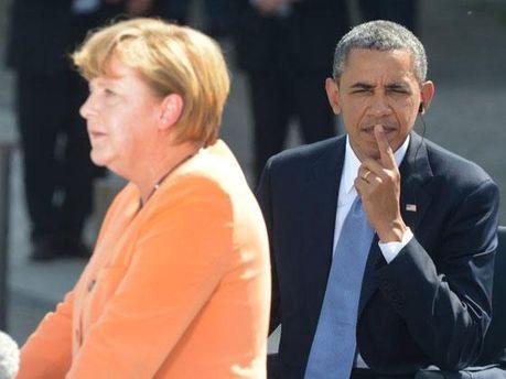 Барак Обама і Ангела Меркель