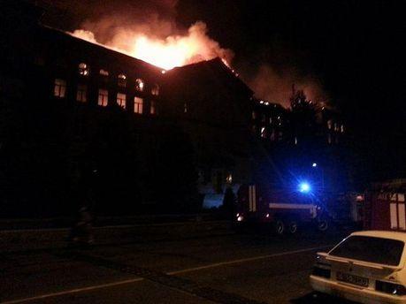 Пожар в Аграрном университете