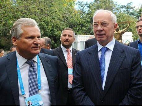 Микола Азаров і Олександр Квасневський
