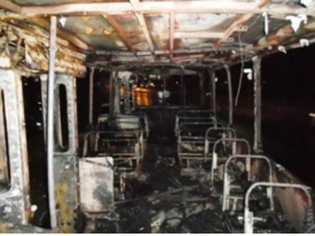 Сгорел троллейбус