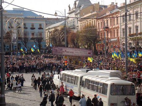Митинг в Черновцах