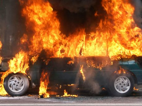 Загорілося авто