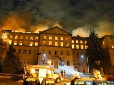 Пожежа в Аграрному університеті