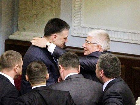 Олег Тягнибок і Михайло Чечетов