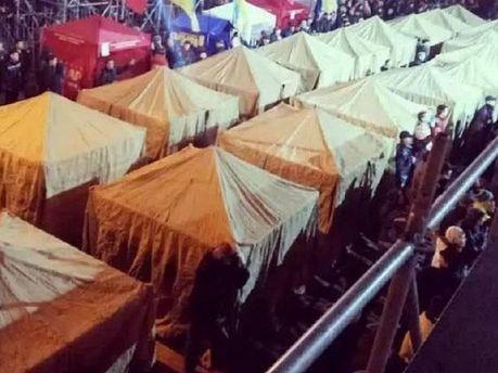 Палаточный городок Евромайдана
