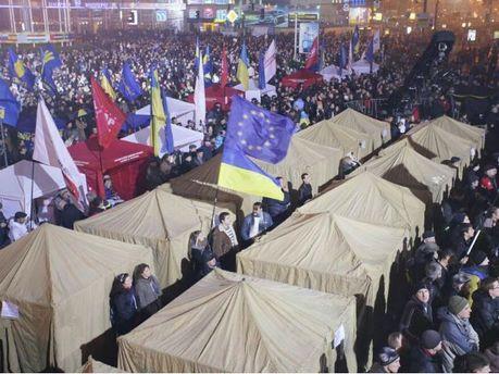 Євромайдан у Києві. Наметове містечко