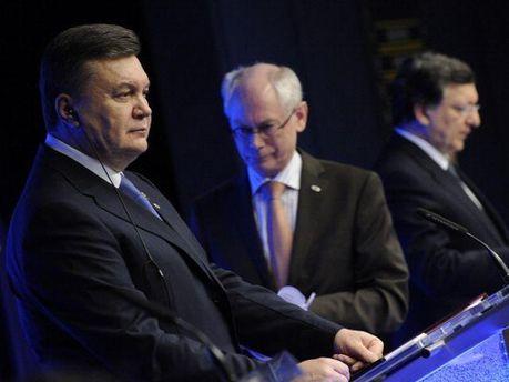 Віктор Янукович з європолітиками