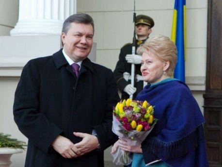 Віктор Янукович і Даля Грібаускайте