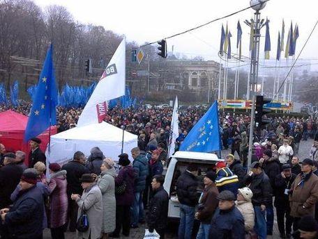 Митинг на Михайловской площади