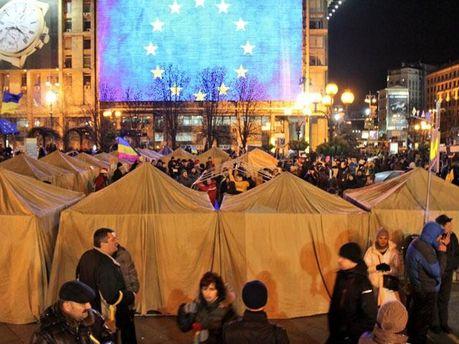 Палатки на Евромайдане