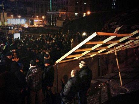 Евромайдан сегодня ночью