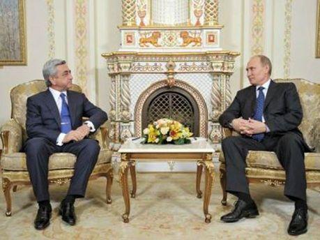 Президенти Росії і Вірменії