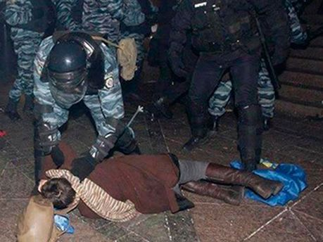 Ирина Коцюбинская на Майдане 30 ноября