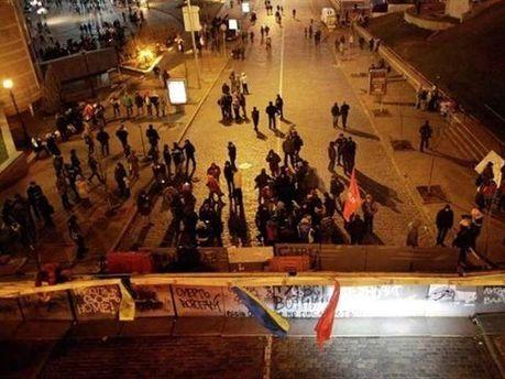 Ночной Евромайдан в Киеве