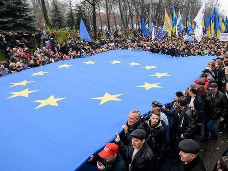 Шествие Евромайдана в Киеве