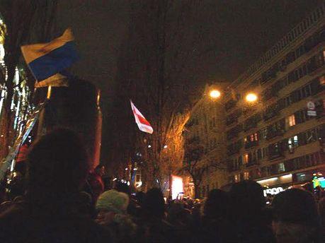 П'єдестал, на якому стояв пам'ятник Леніну