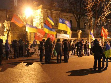 Мітингувальники на Банковій