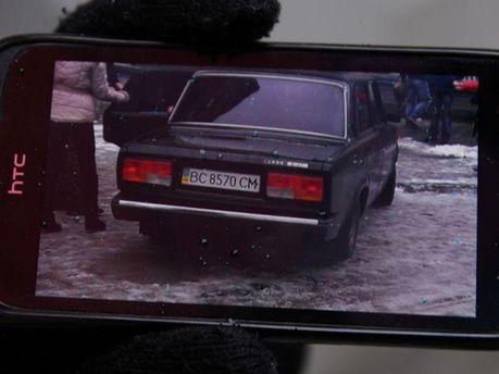 Авто, на якому викрали фотографа