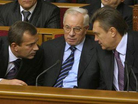 Андрей Клюев, Николай Азаров и Виктор Янукович