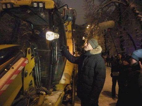 Володимир Кличко і трактор