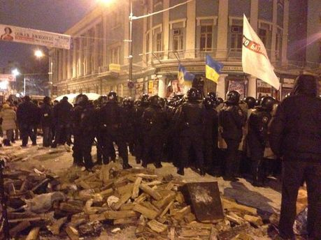 Зачистка на вулиці Грушевського