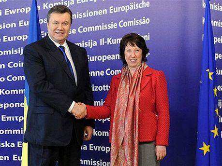 Янукович с Эштон