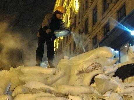 Новые баррикады на Евромайдане