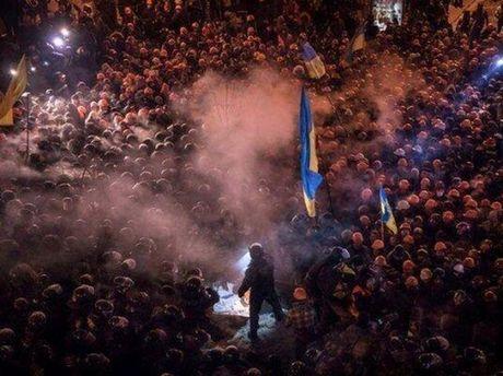 Ночной Евромайдан