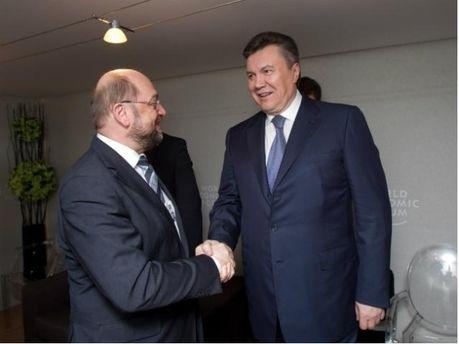 Віктор Янукович та Мартін Шульц