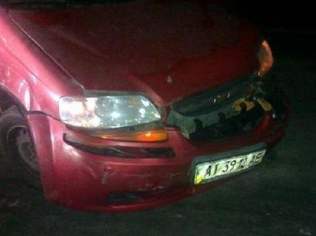 Автомобиль Черновол после нападения