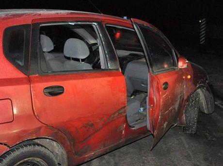 Побитая машина Чорновол
