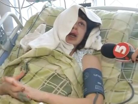 Татьяна Чорновол в больнице