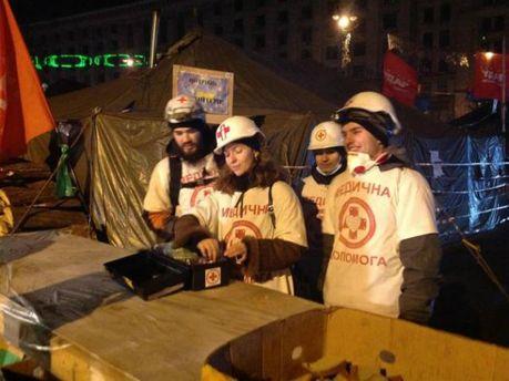 Волонтеры-медики на Евромайдане