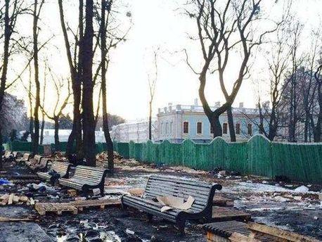 Маріїнський парк після антимайдану