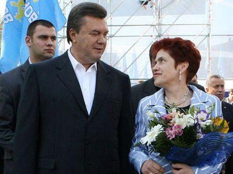 Виктор Янукович с женой
