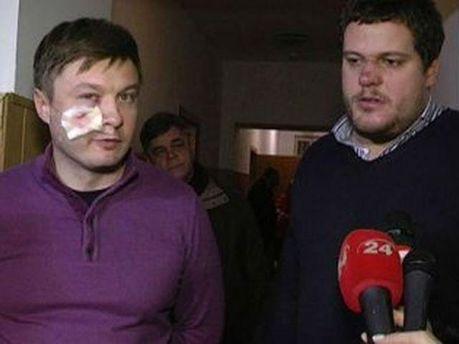 Андрій Іллєнко й адвокат Сидора Кізін