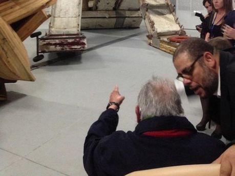 Фидель Кастро на открытии арт-студии