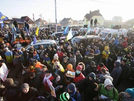 Акція Автомайдану у Межигір'ї