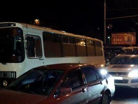 Заблокированный автобус