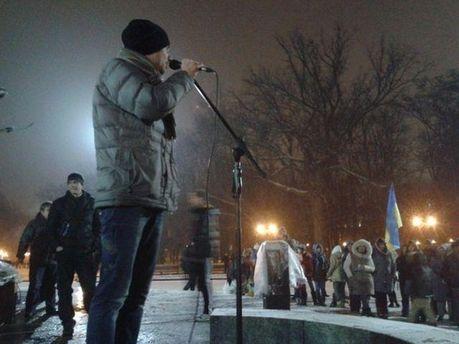 Харьковскому Евромайдану выключили свет