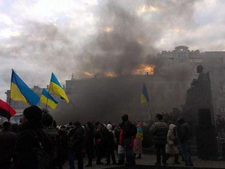 Петарди на Євромайдані
