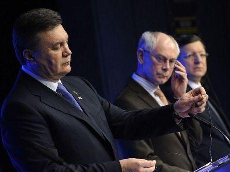 Віктор Янукович з лідерами ЄС