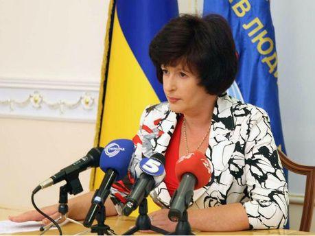Уполномоченный Верховной Рады по правам человека Валерия Лутковская